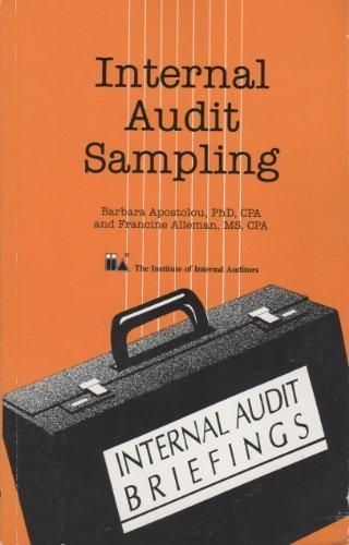 9780894132414: International Audit Sampling (Internal audit briefings)
