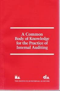9780894132674: A Common Body of Knowledge for the Practice of Internal Auditing