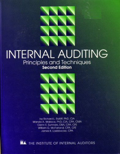 9780894133268: Internal Auditing: Principles and Techniques