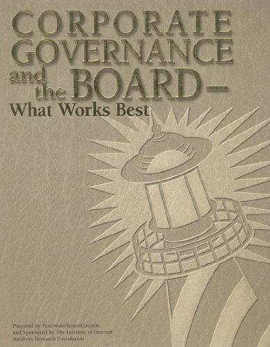 9780894134388: Corporate Governance and the Board: What Works Best