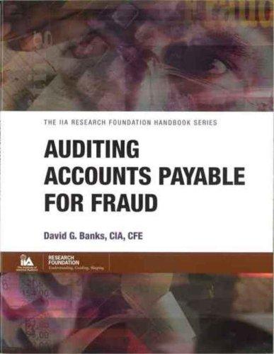 9780894134555: Auditing Accounts Payable for Fraud (IIA handbook series)