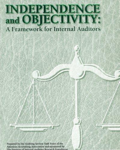 Independence and Objectivity: A Framework for Internal Auditors: Jane Mutchler