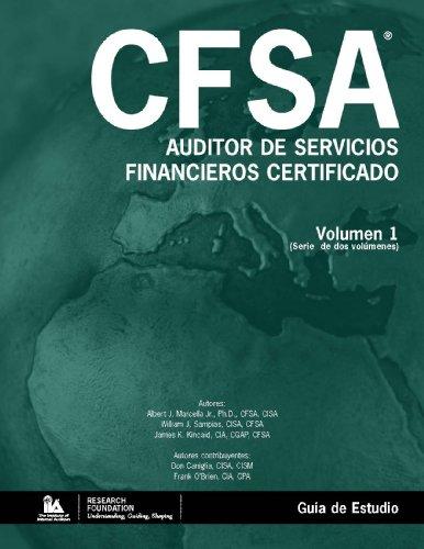 9780894136320: Auditor de Servicios Financieros Certificado (CFSA®) - Guía de Estudio (Spanish Edition)