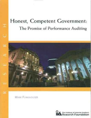 9780894136344: Honest, Competent Government: The Promise of Performance Auditing