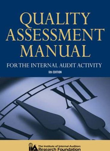 9780894136351: Quality Assessment Manual for the Internal Audit Activity