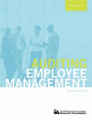 9780894137198: Auditing Employee Management