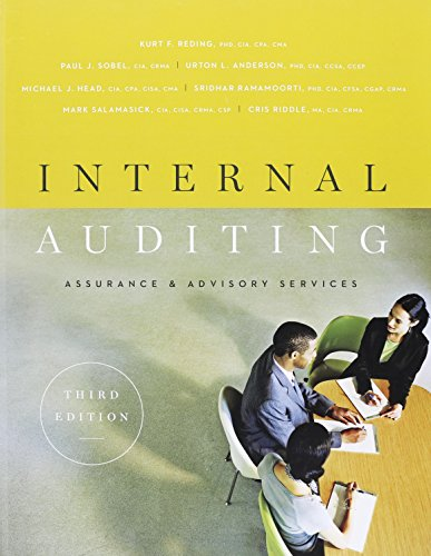 Internal Auditing: Assurance & Advisory Services, Third: Kurt R. Reding,