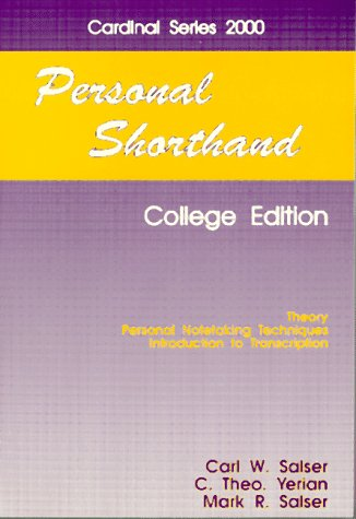 9780894202575: Personal Shorthand Cardinal Series 2000: Book 1