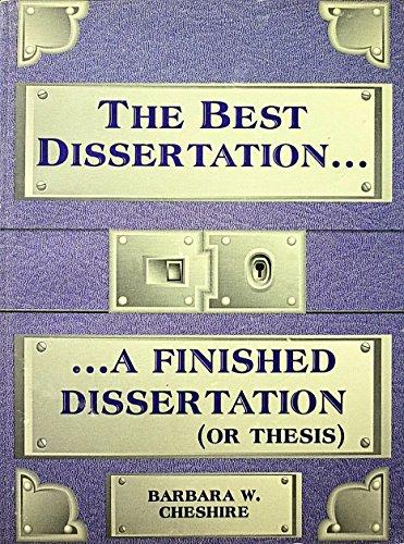 9780894202896: Best Dissertation: A Finished Dissertation