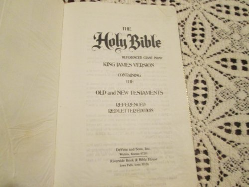 9780894248306: THE HOLY BIBLE REFERENCED GIANT PRINT KING JAMES VERSION REFERENCED RED LETTER EDITION WITH THUMB TABS