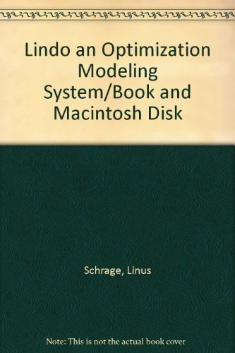 9780894261510: Lindo an Optimization Modeling System/Book and Macintosh Disk