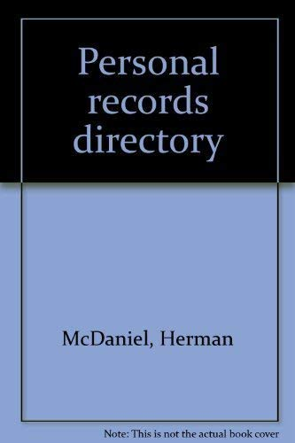 9780894330889: Personal records directory [Hardcover] by McDaniel, Herman