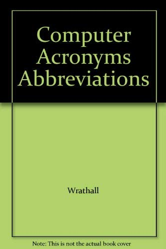 Computer Acronyms Abbreviations
