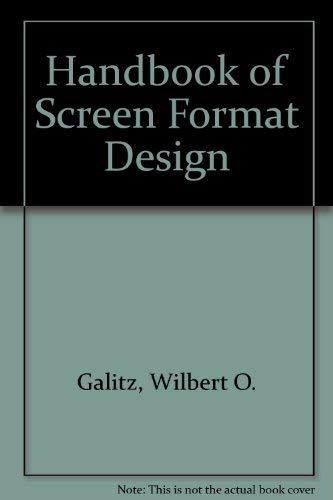 9780894351198: Handbook of Screen Format Design