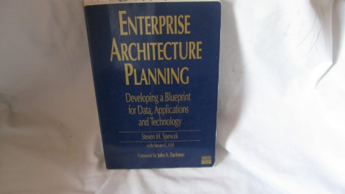 9780894354366: Enterprise Architecture Planning: Developing a Blueprint for Data, Applications and Technology