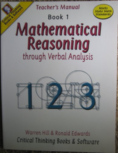 Mathematical Reasoning, Book 1
