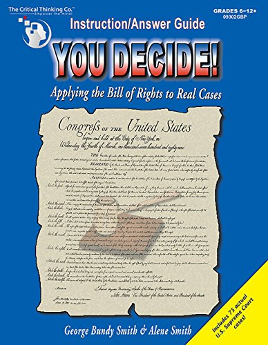 9780894554414: You Decide!: Applying the Bill of Rights to Real Cases: Grades 6-12+ (Teacher's Instruction/Answer Guide)