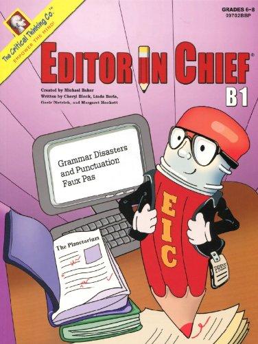 Editor in Chief B1: Cheryl Block, Linda