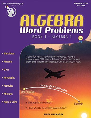 9780894557996: Algebra Word Problems, Book 1