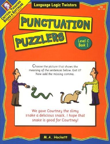 Punctuation Puzzler - Commas and More C1: Margaret Hockett