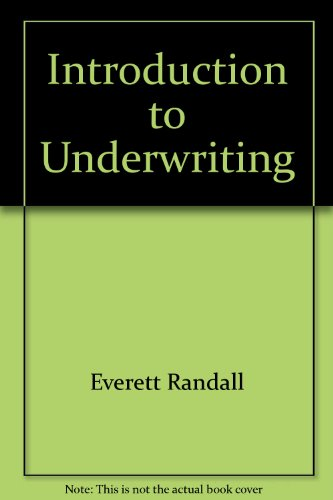 9780894620843: Introduction to Underwriting