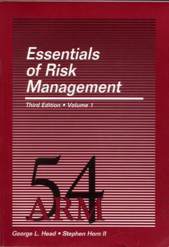 9780894621147: Essentials of Risk Management