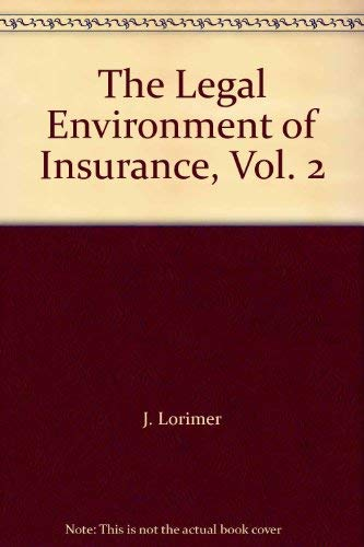9780894630118: The Legal Environment of Insurance, Vol. 2
