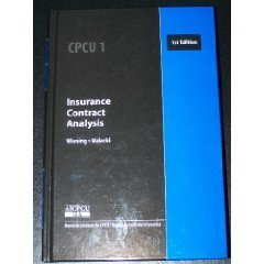 Insurance Contract Analysis (089463061X) by Eric A. Wiening; Donald S. Malecki