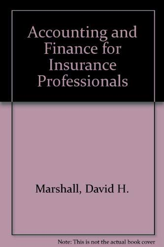 9780894630972: Accounting and Finance for Insurance Professionals