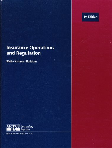 9780894631023: Insurance Operations and Regulation