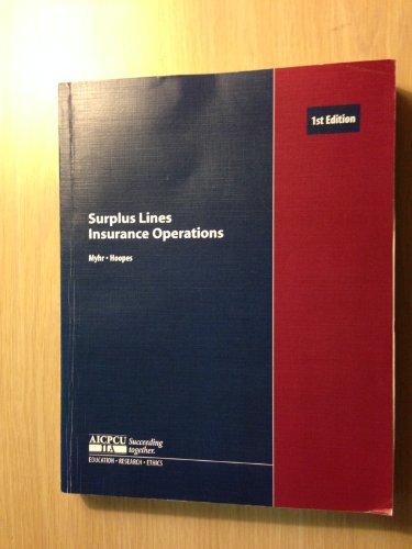 Surplus Lines Insurance Operations