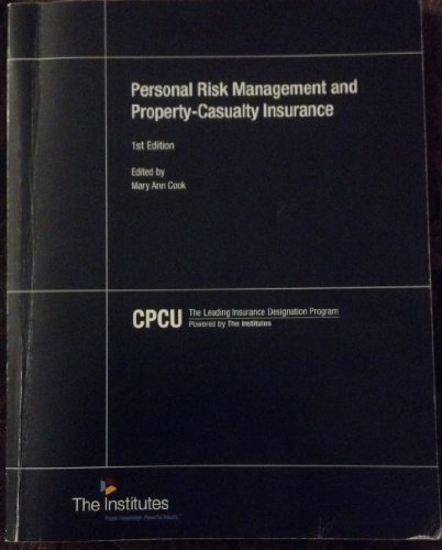 9780894634154: Personal Risk Management and Property-Casualty Insurance