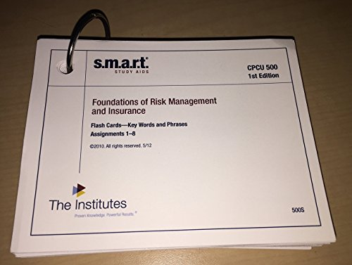 9780894634192: CPCU 500 SMART Study Aids, 1st edition (Review Notes & Flash Cards)