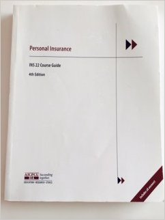 9780894634901: AINS 22 Personal Insurance Review Notes (A General Insurance Designation program)
