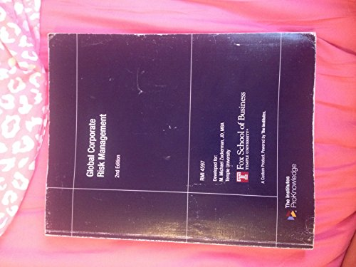 9780894637544: Global Corporate Risk Management 2nd Edition