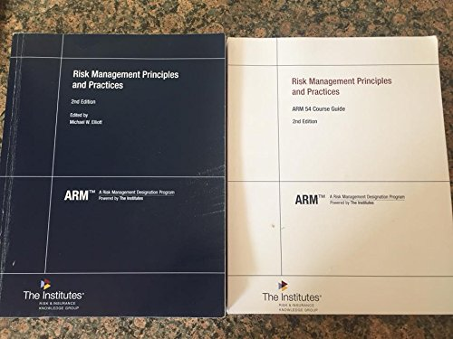 9780894639166: Risk Management Principles and Practices