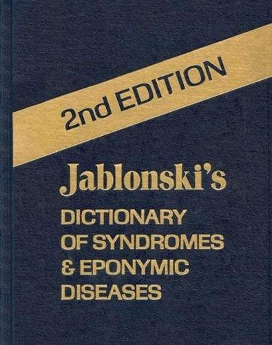 9780894642241: Jablonski's Dictionary of Syndromes and Eponymic Diseases