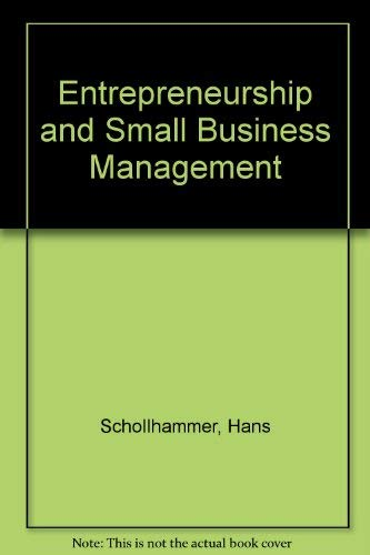 9780894642357: Entrepreneurship and Small Business Management
