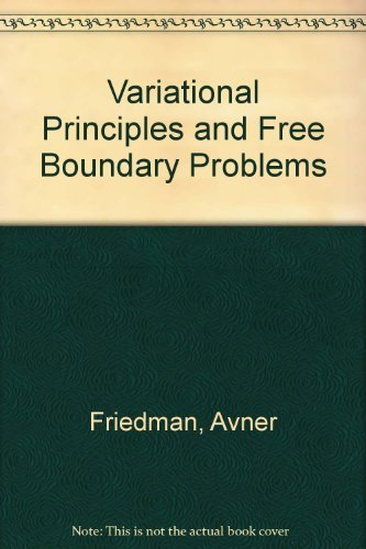 9780894642630: Variational Principles and Free Boundary Problems