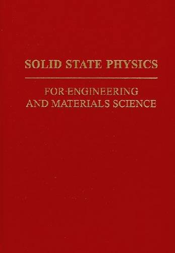 9780894644368: Solid State Physics for Engineering and Materials Science