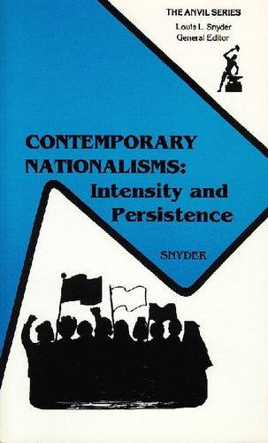 9780894645709: Contemporary Nationalisms: Persistence in Case Studies (The Anvil Series)
