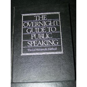9780894712005: Overnight Guide to Public Speaking
