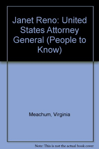 9780894905490: Janet Reno: United States Attorney General (People to Know)