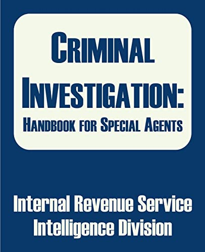 9780894992209: Criminal Investigation: Handbook for Special Agents