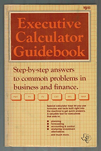 9780895120403: BA-II Executive Calculator Guidebook