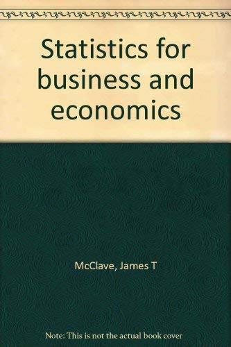 9780895170040: Statistics for business and economics