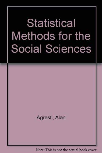 9780895170149: Statistical Methods for the Social Sciences