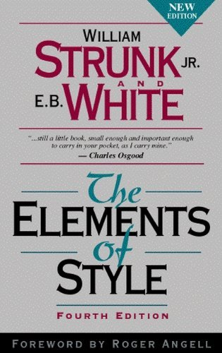 9780895175359: The Elements of Style 4th (forth) edition Text Only