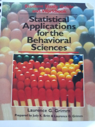9780895241016: Statistical Applications for the Behavioral Sciences (Student Study Guide and Workbook)