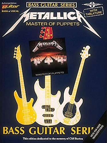9780895244086: Metallica: For Bass Guitar & Vocal: Master of Puppets (Play it Like it is)